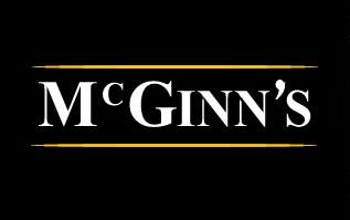 mcginns logo, similar to guinness logo