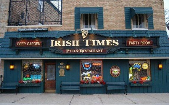 Outside the Irish Times Pub