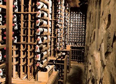 wine cellar at McGuire's Irish Pub